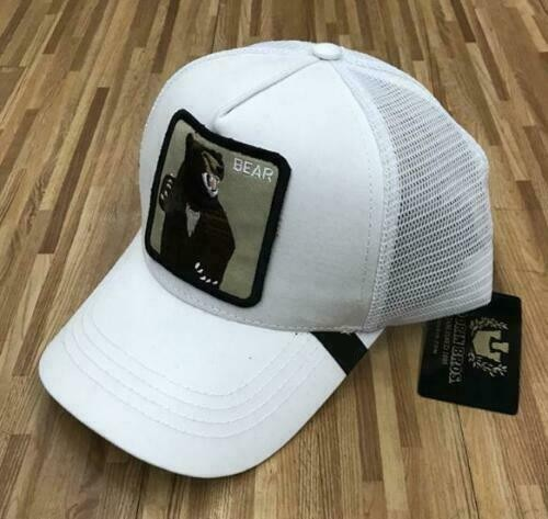 2019 New  Summer trucker cap mesh snapback hip hop hats for men embroidery baseball cap BEAR-WHITE