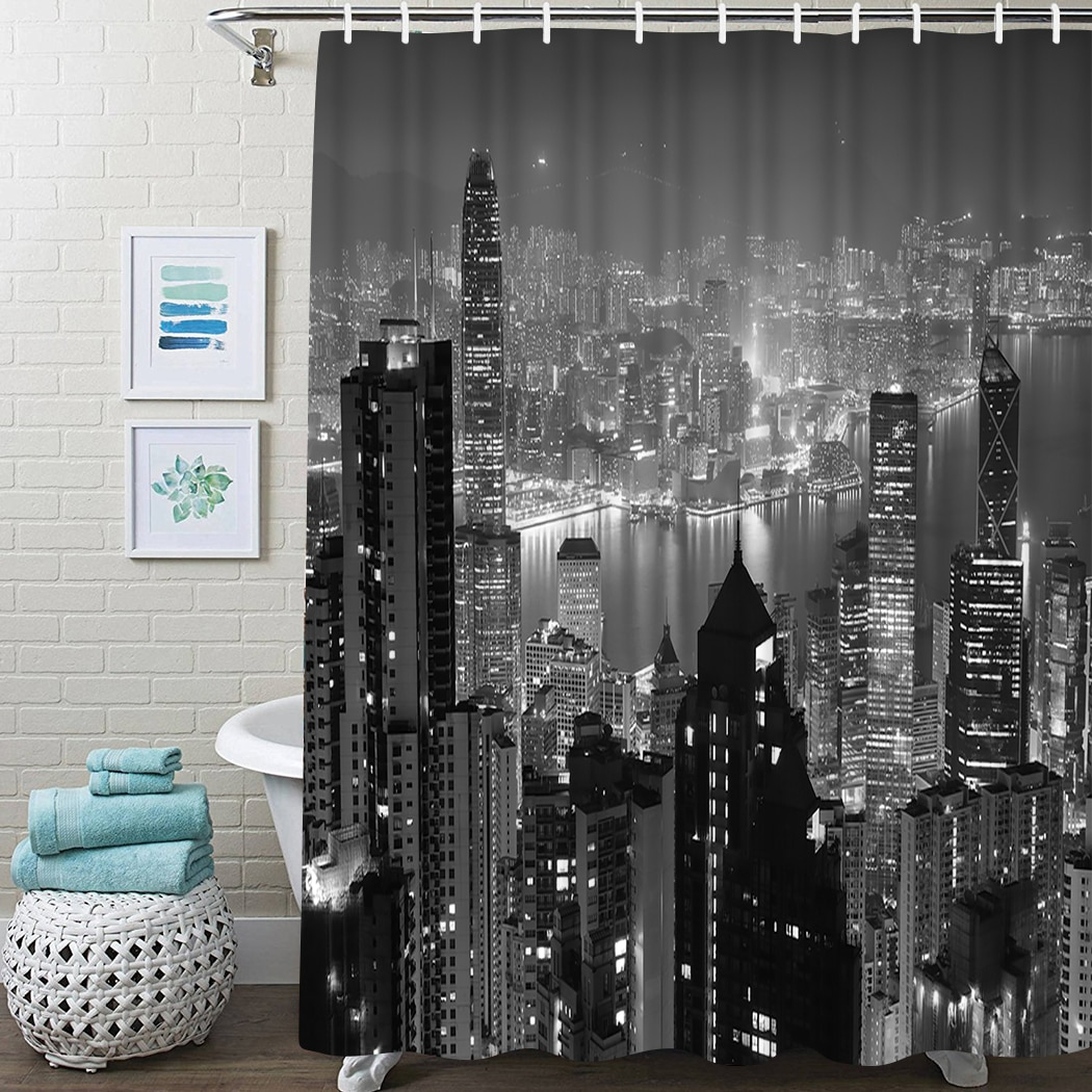 Floral Shower Curtain Summer Flower Watercolor Shower Curtain Waterproof Fabric For Bathroom Decor Shower Curtains Set With Hook ocean waves printed shower curtain for bathroom waterproof shower curtain with hook polyester bathroom shower curtain home decor