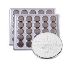 50pcs CR2032 piles bouton 2032 DL2032 ECR2032 cellule Coin 3V CR 2032 batterie au lithium pour caméra montre jouets