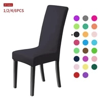 meijuner solid chair covers spandex slipcover modern stretch elastic chair covers for room party universal kitchen chair cover