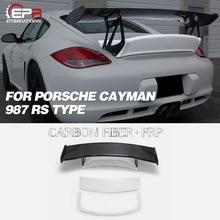 Pneu en carbone et en Fiber de verre   Pour Porsche Cayman 987 RS Type coffre arrière et becquet GT 8 pièces