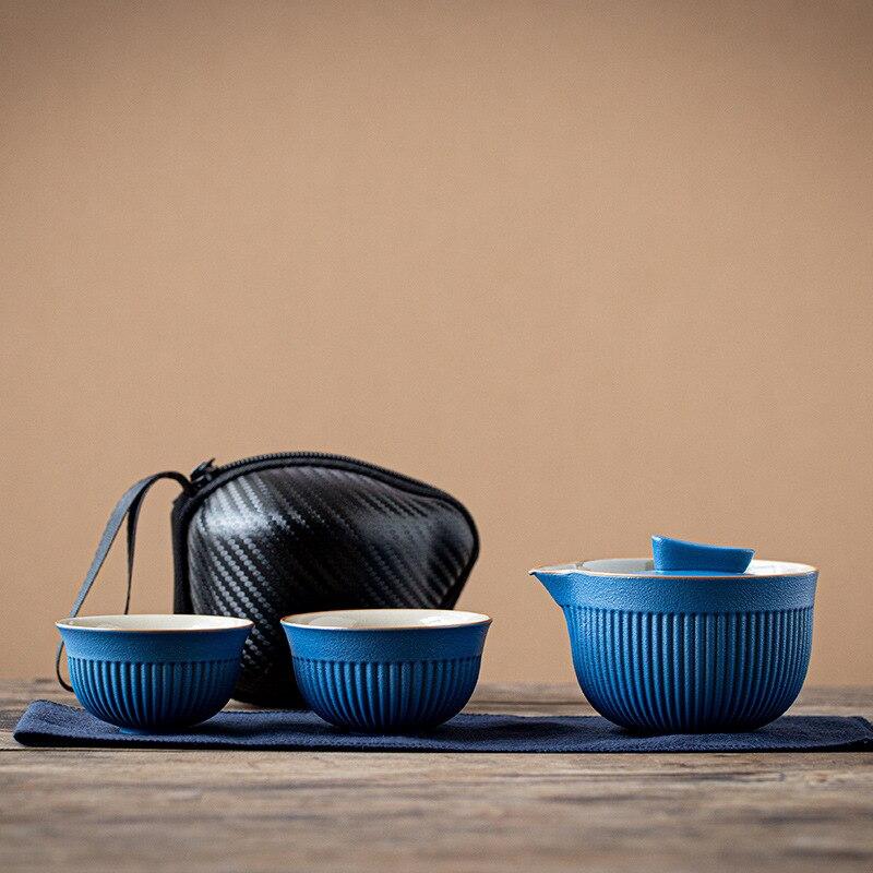 المحمولة السفر طقم شاي إبريق شاي من السيراميك غلاية كويك الأواني وعاء واحد واثنين من أكواب الشاي الصينية شرب إبريق الشاي كوب