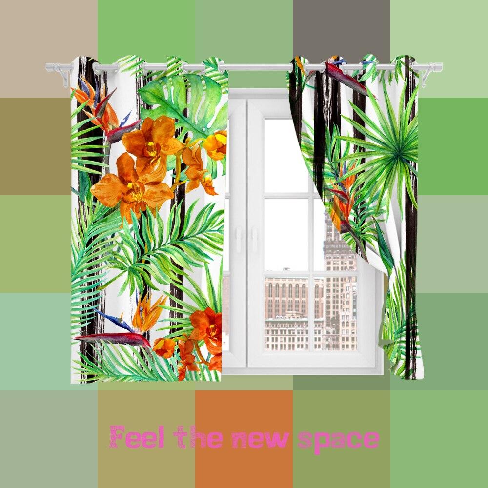 كامل الظل الستار مخصصة النباتات الاستوائية غرفة نوم غرفة المعيشة الأميرة خليج نافذة لكمة هوك ستائر تعتيم