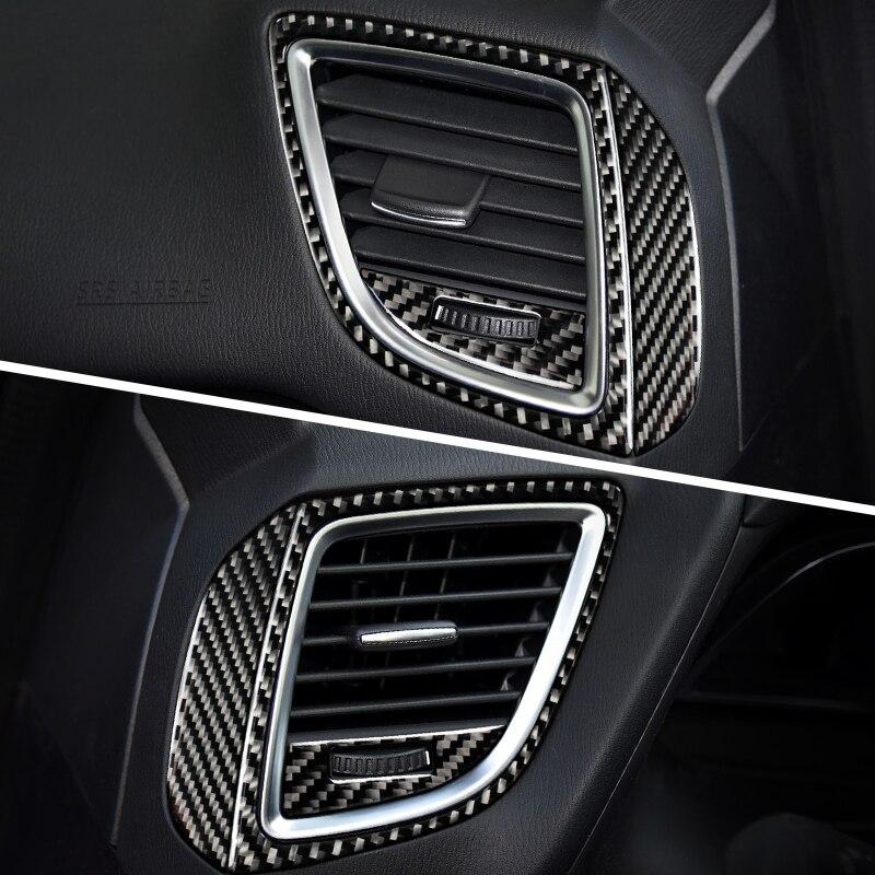 For MAZDA 3 Axela accessories Vent panel decorate Refit carbon fiber automotive interior trim stickers 2014 2017 2018