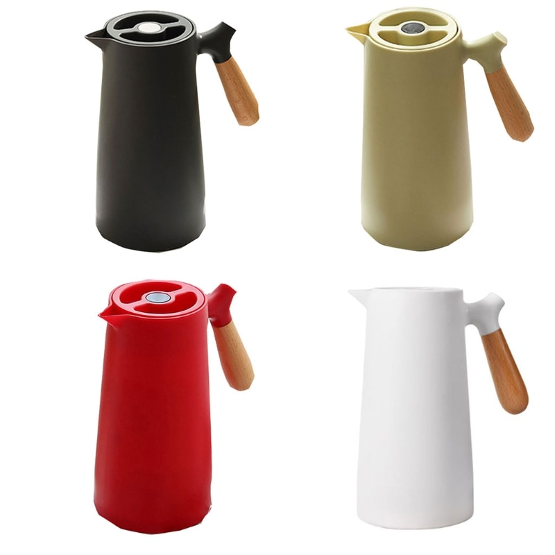 1L Large Capacity Nordic Household Thermal Insulation Pot Glass Liner Hot Water Thermos