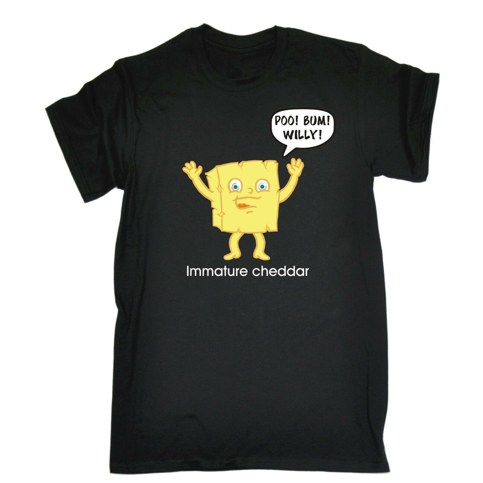 Immature Cheddar Profanity MENS T-SHIRT tee birthday funny rude swearing cheese Cartoon t shirt men Unisex New Fashion tshirt
