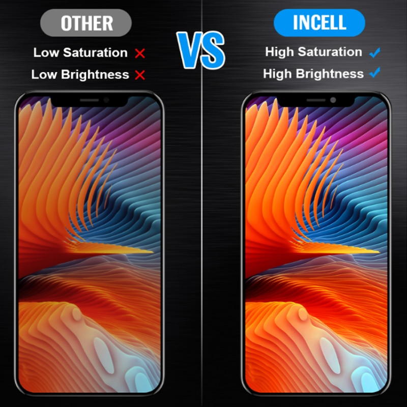 AAA+++ For iPhone X XS MAX XR 11 PRO OLED Display LCD Screen Replacement with True Tone No Dead Pixel Incell Pantall 100% Tested enlarge