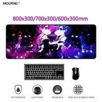 anime mausepad japan mouse pad rem re zero carpet deskpad gaming accessories gamer keyboard computer deskmat rubber dropshipping