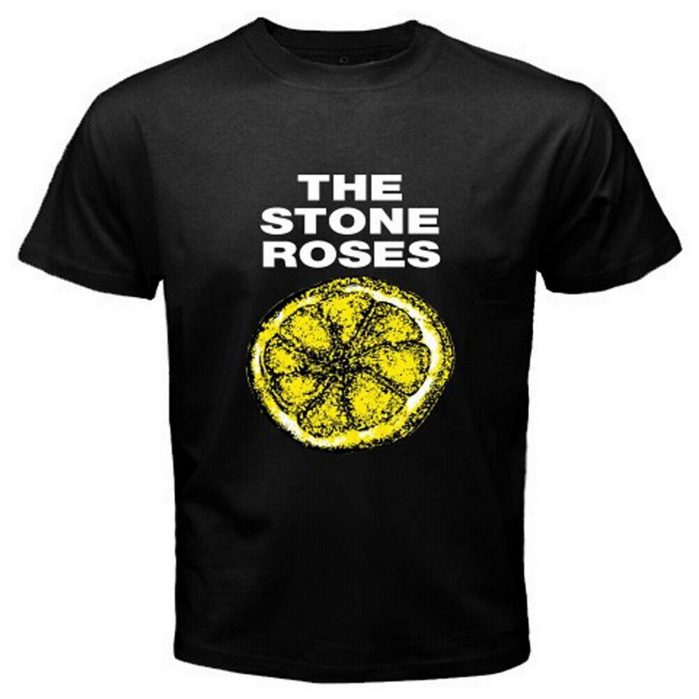 Nueva camiseta negra Retro Punk alternativa a limón The Stone Roses talla S-3XL 11 colores 8 tallas