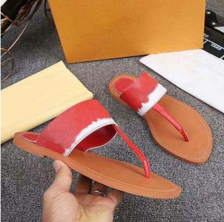 Nieuwe Vrouwen Flip-Flops Luxe Designer Schoenen Sandalen Vrouwen Mode Toevallige Slippers Lederen Top Kwaliteit Met Doos