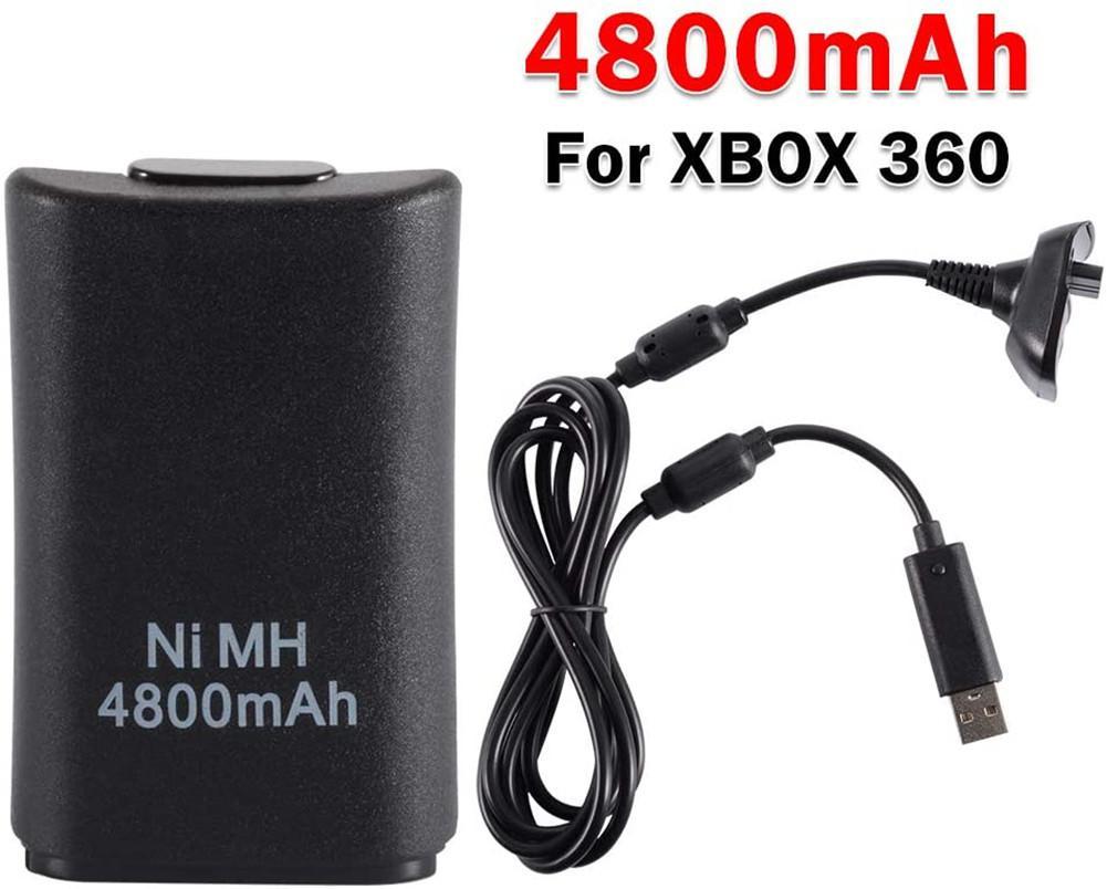 Kuulee-Paquete de batería de 4800mAh, conjunto de Cable de carga USB para...