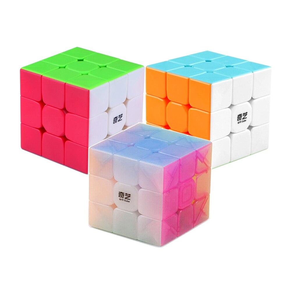 IQ-Cubes QiYi Warrior W / S / Jelly 3x3 Cube высокоскоростная головоломка, магический Профессиональный обучающий куб, детские игрушки