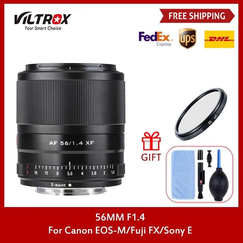 Viltrox 56 مللي متر F1.4 DSLR عدسة الكاميرا فتحة كبيرة STM التركيز التلقائي لسوني E كانون EOS-M Fujifilm FX المهنية التصوير عدة