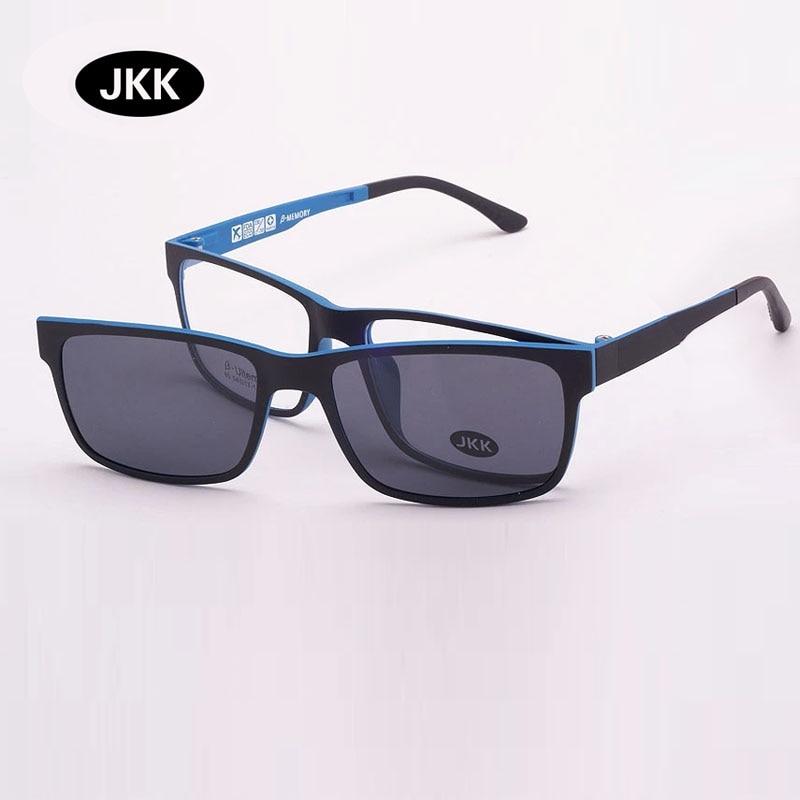Ultra-Light Tungsten Titanium Eyeglasse Frame With Magnet Clip On Myopia Glasses Polarized Sunglasse