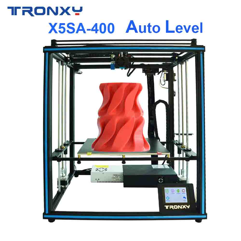 Hot sale Tronxy X5SA-400 3D printer DIY Kits Auto leveling Touch Screen Heat bed 400*400mm