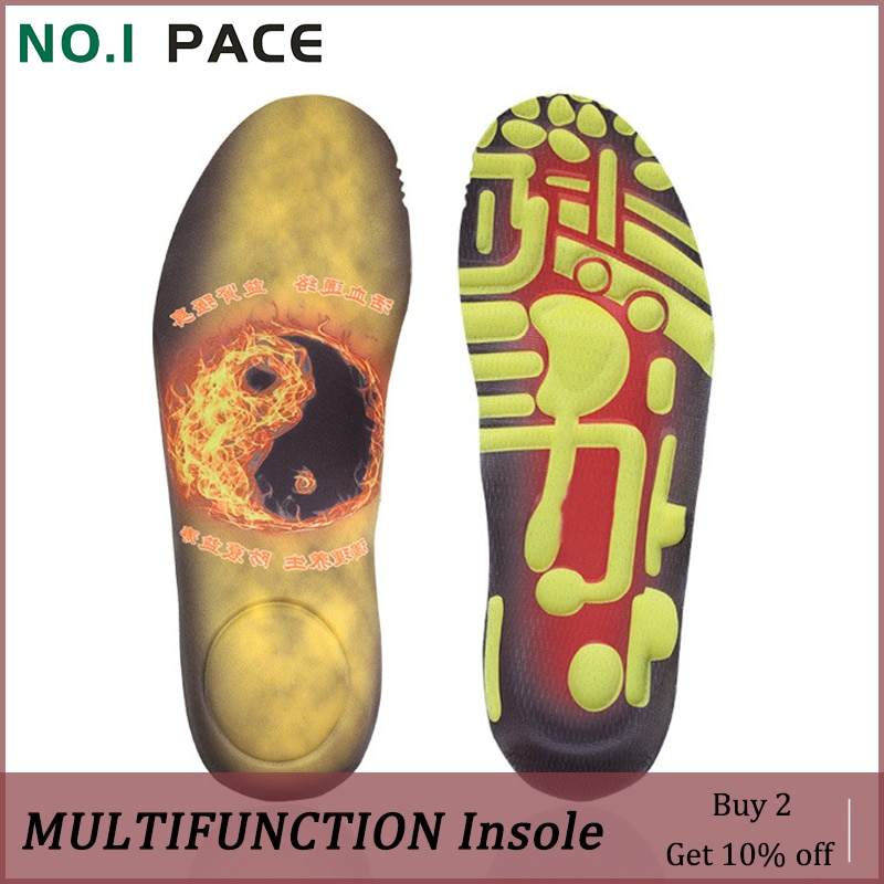 NOIPACE Plantar Orthopedic Insoles Multifunction For Flat Feet High Arch Support Shoe Pads Male Points Massage Valgus Corrector
