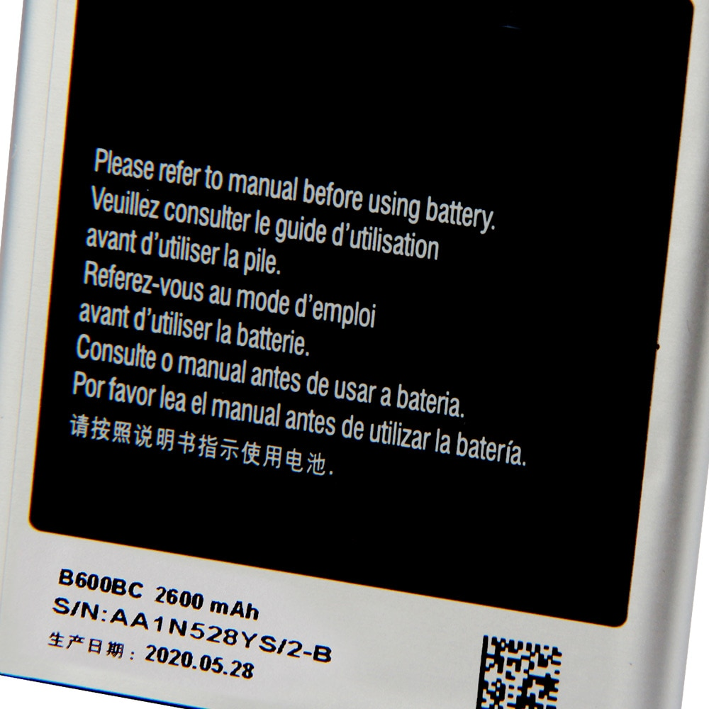 Original Replacement Samsung Battery For Galaxy S4 I9500 I959 I9502 I9508 GT-I9505 Genuine B600BC B600BE B600BU 2600mAh enlarge