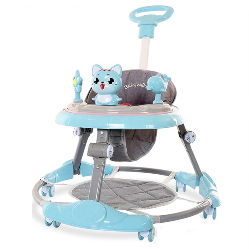 Baby walker Infant walker anti-o-leg baby multifunctional anti-rollover stroller baby learner driving child starter car can sit
