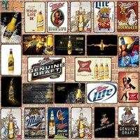YZFQ    Miller Signes de Biere En Metal Barre Murale Restaurant Gym Maison Art Decor de Cinema DU-8150B