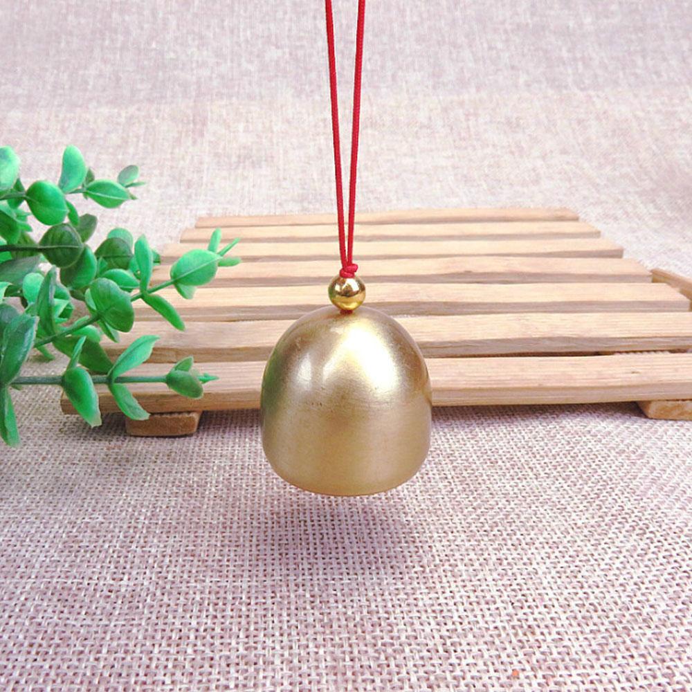 Pendentif carillon éolien en cuivre pur   Cloche de noël en métal, cloche de porte en cuivre, pendentif pour arbre de noël, accessoires de cloche antivol