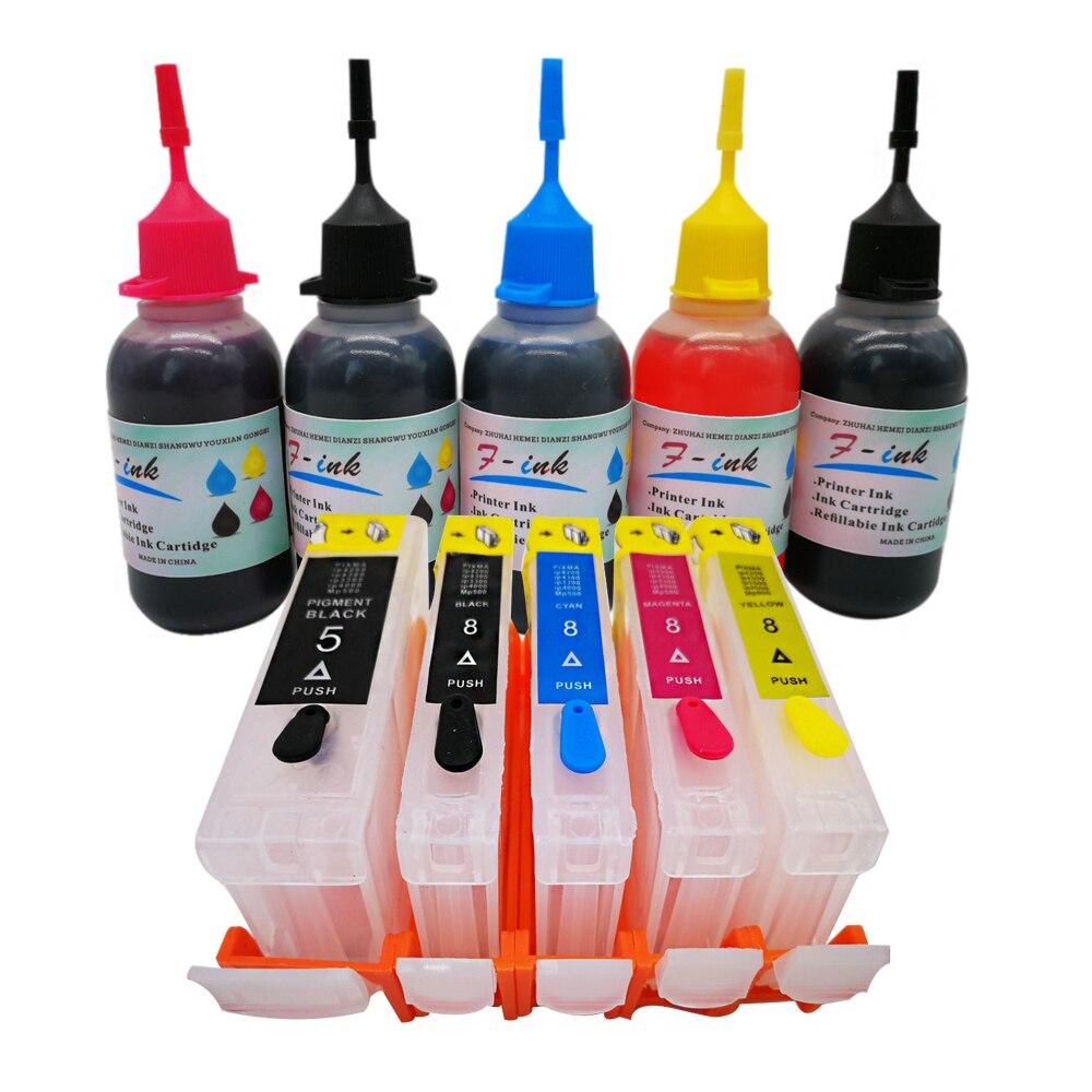 PGI-5 CLI-8 Refillable Ink Kits For canon MP510 MP520 MP530 MP600R MP610 MP800 MP800R MP810 MP830 MP950 MP960 MP970 printer