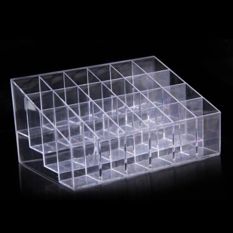 24 Grid Acrylic Makeup Organizer Cosmetic Display Stand Lipstick Storage Box Makeup Make Up Case Sundry Jewelry Tool Kit Storage