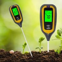 Ketotek 4 IN 1 Digital Soil Moisture Meter PH Meter Temperature Sunlight Tester for Garden Farm Lawn Plant with LCD Displayer