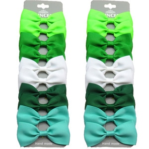 20PCS/Lot Lovely Green MIX Color Hairpins Grosgrain Ribbon Bows Clips 2020 Korean Creativity Hair Accessories For Baby Girls NEW