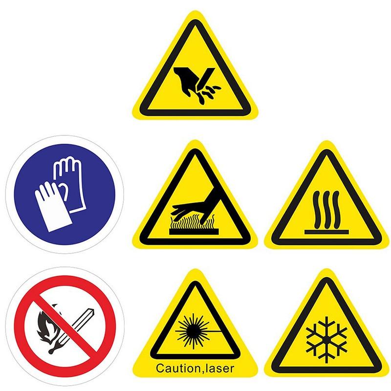 5 uds. Pegatinas de advertencia Logo seguridad etiquetas ventana puerta o pared etiquetas pegatina máquina
