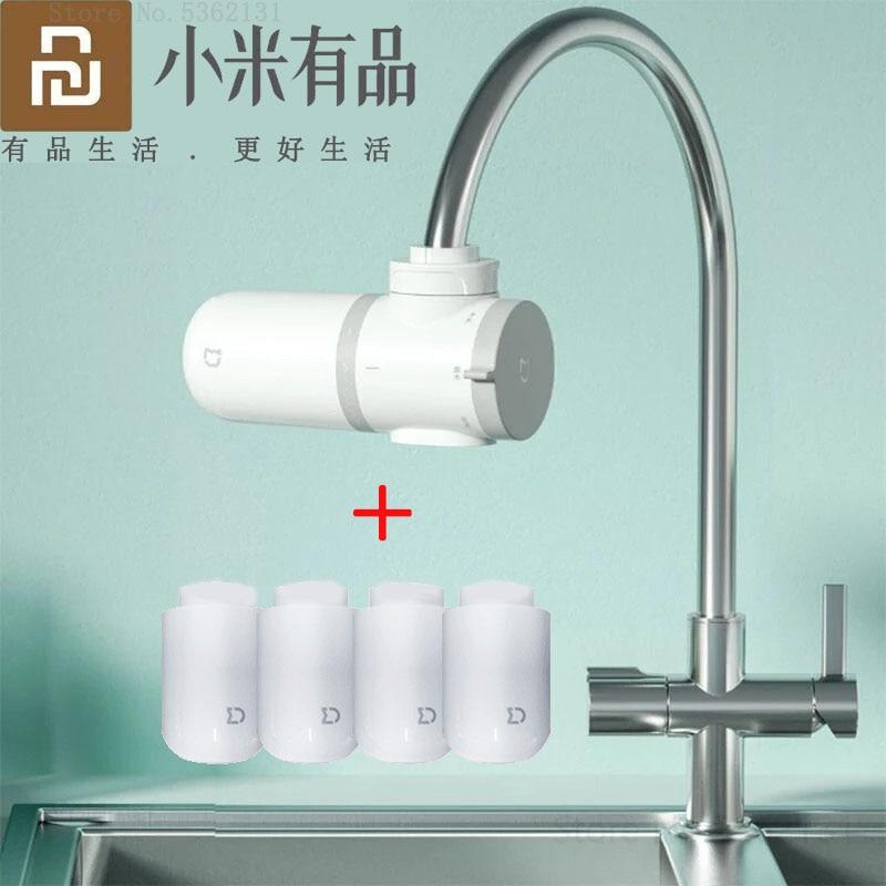 Youpin-منقي مياه Mijia ، فلتر مياه صنبور المطبخ ، فلتر الكربون المنشط ، دورق ، يزيل الصدأ والبكتيريا