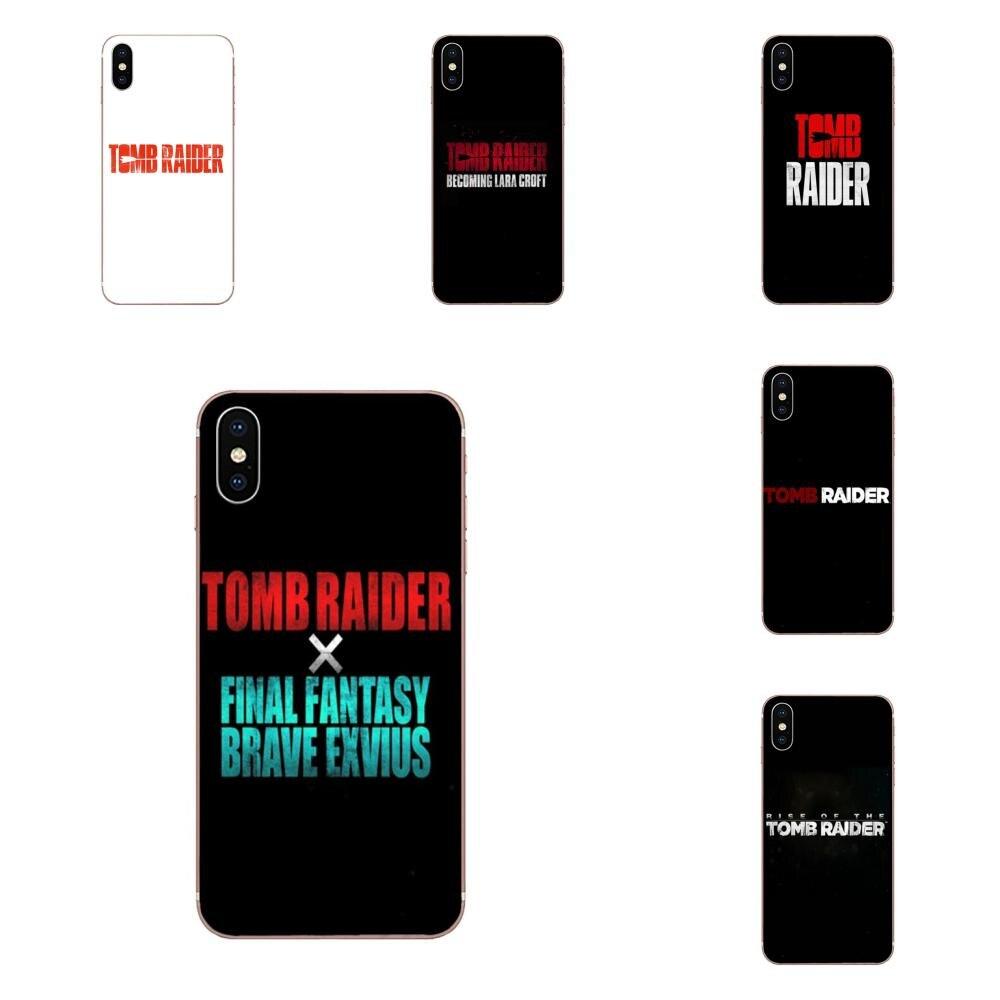 Para HTC U11 vida Capa U11 Plus U 11 U12 vida célula blanda teléfono película Tomb Raider logotipo