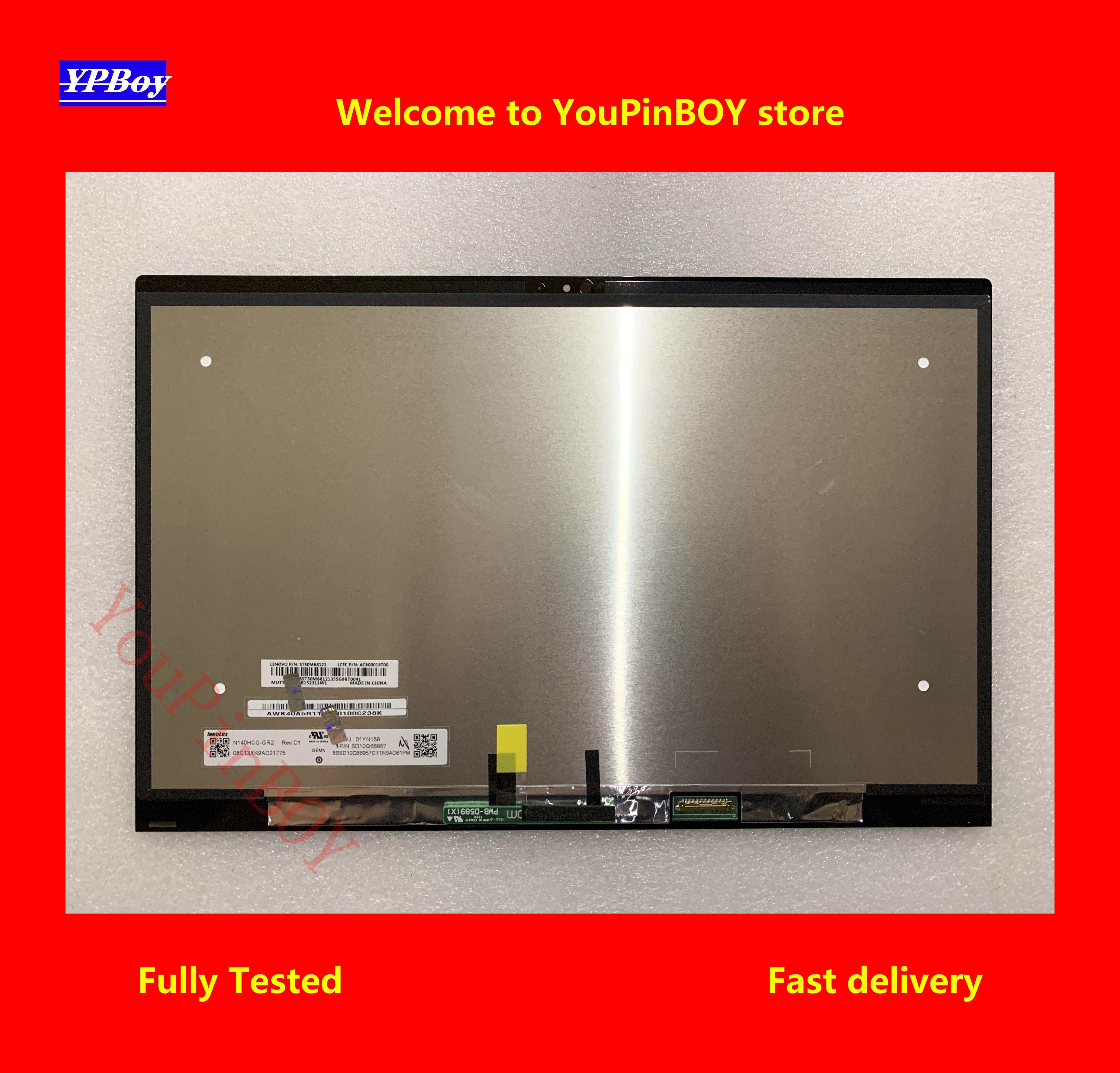 "Pantalla táctil LCD de 14 ""para Lenovo Thinkpad X1 Yoga 2019, montaje de pantalla táctil N140HCG-GR2 B140QAN02.2 NV140QUM-N53 FRU 01YN158 01YN177 01YN122"