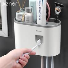 Distributeur automatique de dentifrice à une seule tasse   Porte-dents mural, salle de bains, distributeur de dentifrice, boîte à dents