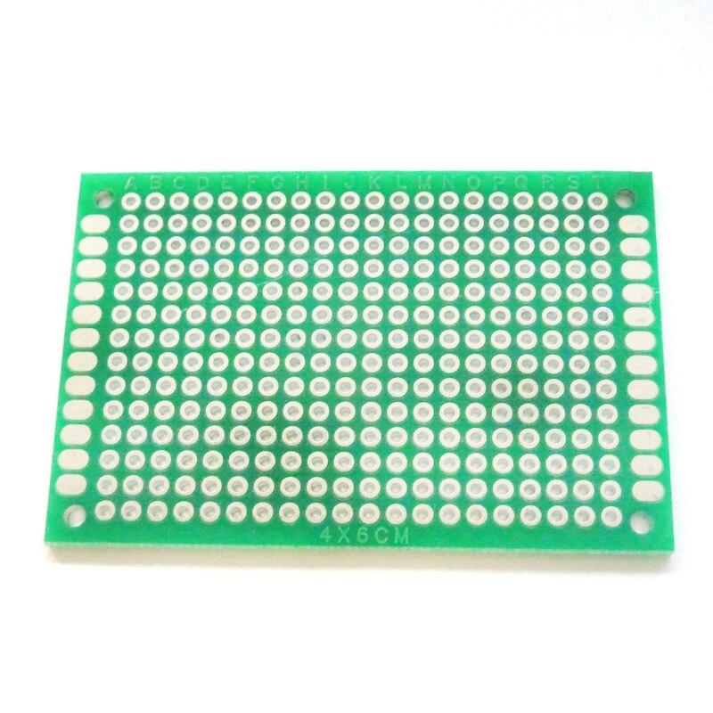 10pcs Double Side Prototype PCB Board 4x6 cm Diy Universal Printed Circuit Board Kit 4*6cm Circuit Prints Soldering Board недорого