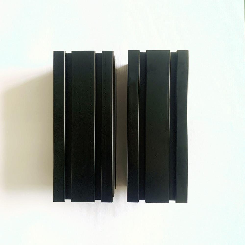 4 قطعة 250 مللي متر 100100 ملف بنتوء من الألمنيوم ، الحنفية M14 1.5 الملعب 20 مللي متر عمق SFX-100 محاكاة أو SRT100 ، أسود اللون