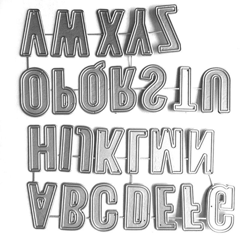 Alphabet Letter Metal Cutting Dies Stencil Scrapbooking DIY Album Stamp Paper Card Embossing Decor Craft
