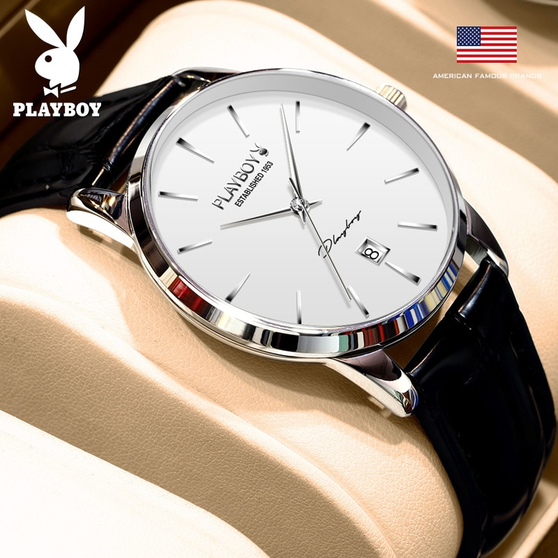 Play boy Men Mechanical Watch Sapphire Glass Luxury Automatic Watch Men 50M Waterproof self winding Wristwatch Watch Leather