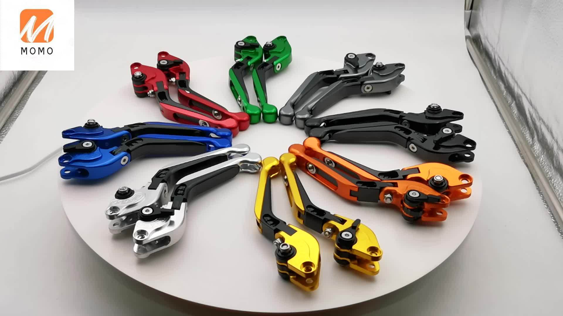 REALZION Wholesale Motorcycle Folding Extendable Adjustable CNC Aluminum Brake Clutch Levers For Yamaha MT07 MT09 FZ-07 FZ-09 недорого
