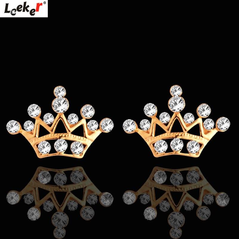 LEEKER doble cadenas medio copo de nieve gargantilla collar amarillo oro rosa plata Color cadena cristal collar mujer joyería 598 LK8