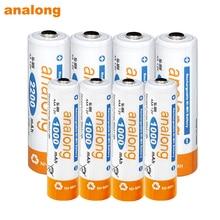 4 pièces AA batterie rechargeable 2200mah ni-mh 1.2v batteries + 4 pièces AAA 1000mah batterie rechargeable 1.2v pour lampe de poche