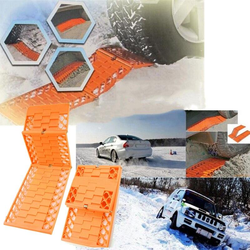 2 cadenas de nieve de unids/set camiones para ruedas de coche plegable antideslizante de barro neumáticos de protección de cadena de seguridad para automóviles