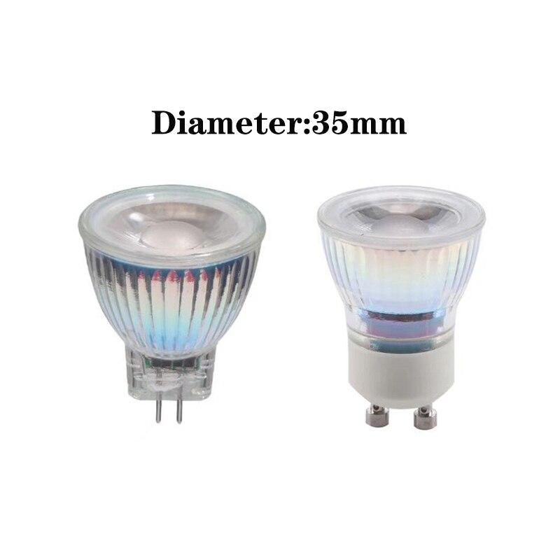 Cuerpo de cristal MR11 COB foco Led 110V/220V regulable GU4 lámpara de luz AC/DC 12V 9W GU10 bombilla LED caliente/Natural/blanco frío Bombillas