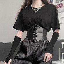 FHYU Gothic Sexy Women Bandage Corset High Quality Fashion Slim Apparel Collocation Girdle Waist Cli