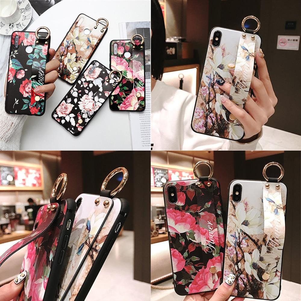Capa floral de tpu suporte de telefone para huawei, honor 7a 8a 8x 10 20 9 20i p30 p20 capa pro p10 lite mate 10 20 pro 30
