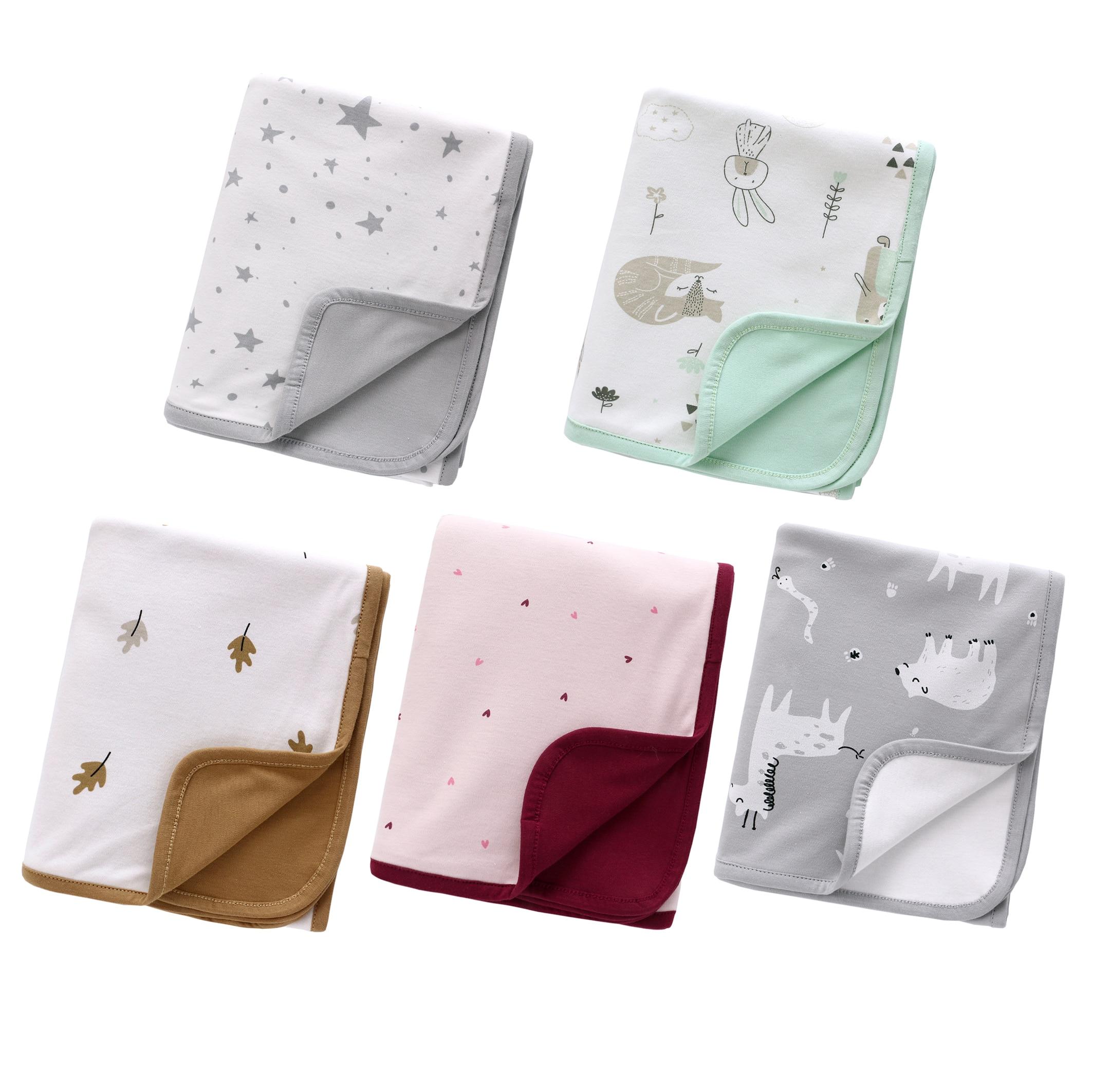 110*140cm Pure Cotton Baby Blankets Newborns Swaddle Blanket Infant Bath Blanket Toddler Swaddling Wrap Quilt for Bedding deken