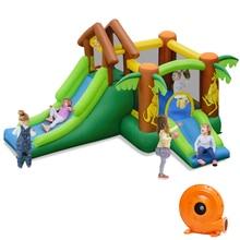 La maison gonflable de rebond de Jungle badine le double videur sautant de château de glissière avec le ventilateur