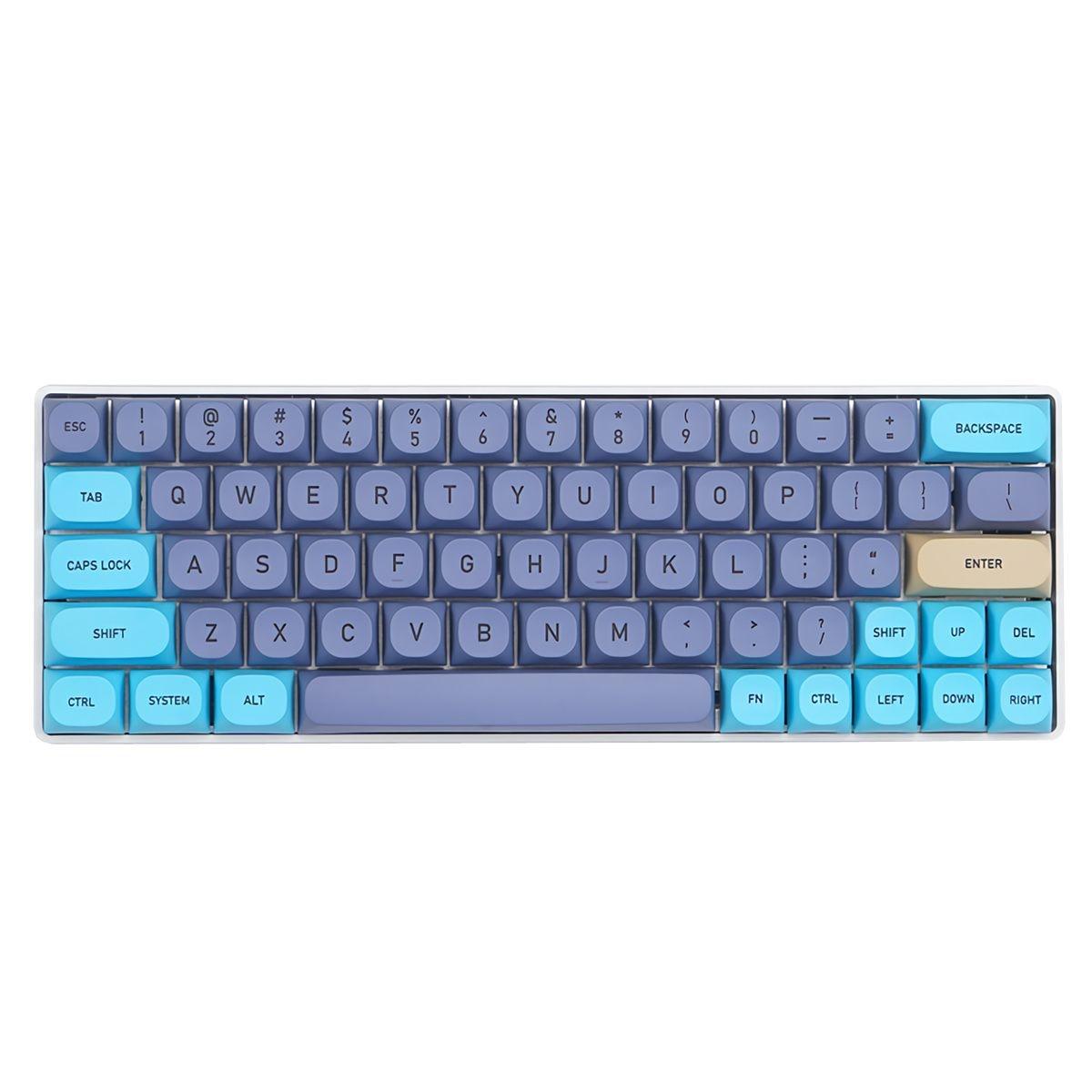 75/142 مفاتيح الأزرق المرقعة Keycap مجموعة مللي أمبير الشخصي PBT التسامي كيكابس للوحة المفاتيح الميكانيكية
