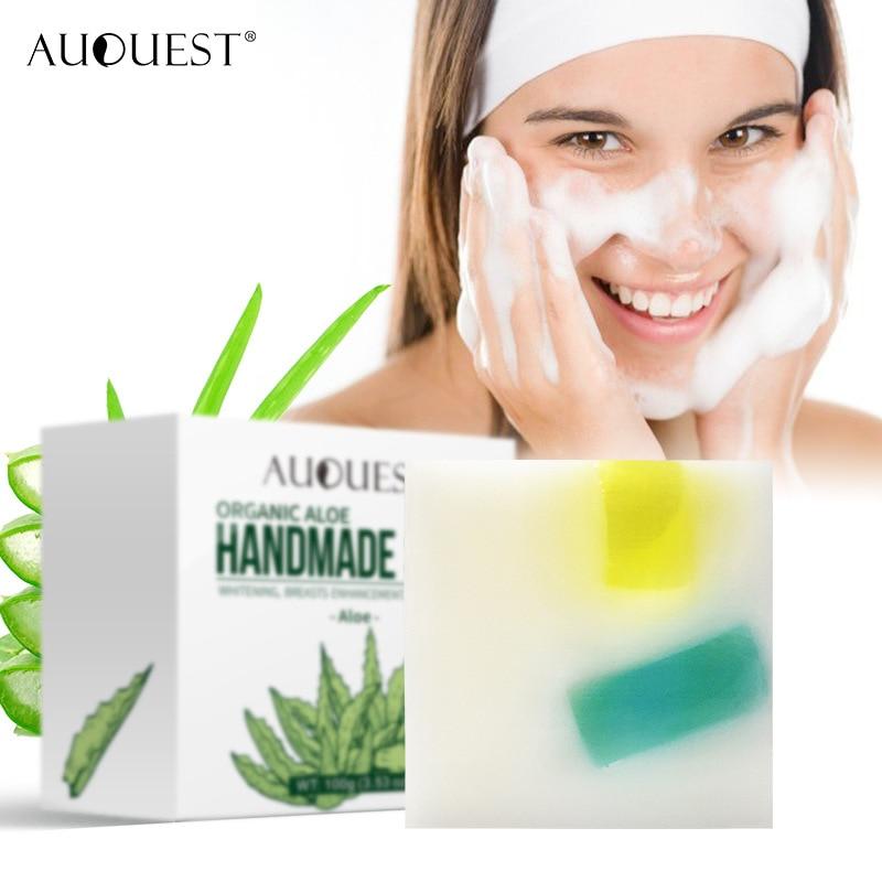 Отбеливающий, с экстрактом папайи увлажняющее мыло для ухода за лицом, базовое мыло, глубокое очищение, осветление ухода за кожей, мыло с ало...
