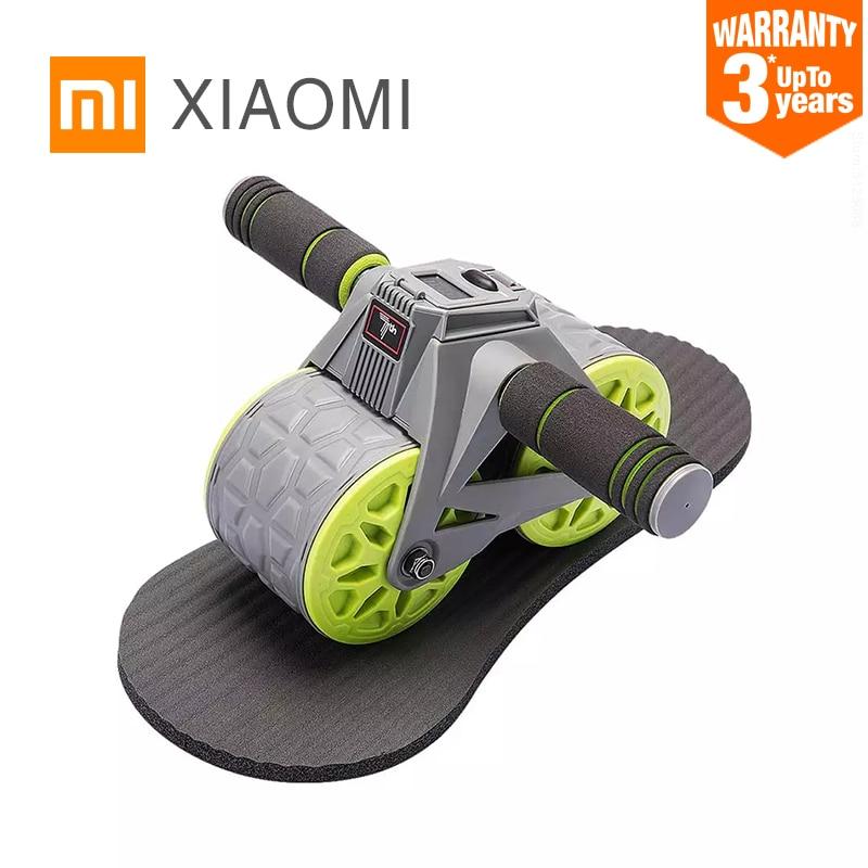 XIAOMI MIJIA Cuenta inteligente Rueda abdominal de rebote automático Equipo de ejercicios para el hogar sin ruido Estiramiento de rodillos Entrenador de músculos abdominales