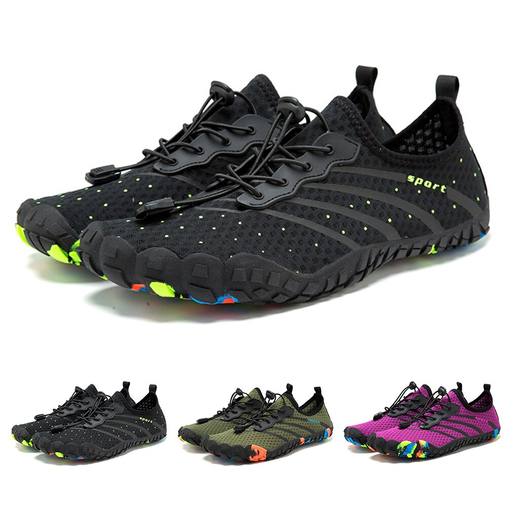 gomnear breathable mesh water shoes male outdoor swimming beach shoes big size anti skid sports trekking shoes summer sneakers Unisex Fashion Shoes Summer Water Shoes Breathable Beach Slippers Upstream Sports Shoes Swimming Sandals Diving Socks Sneakers